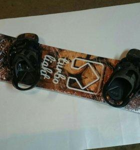 Новый сноуборд комплект крутой