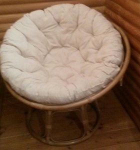Круглое кресло из ротанга 2 шт