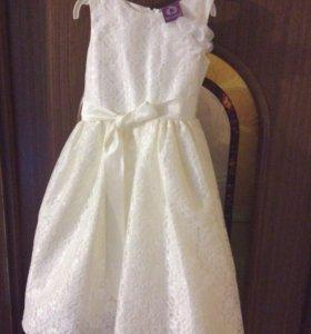 Праздничное платье на девочку 8-9 лет