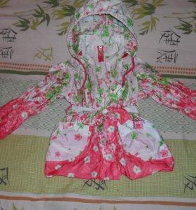 Легкая куртка ветровка для девочки, размер 104-110