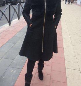 Дубленка (с норкой) шуба пальто 44-46 р.