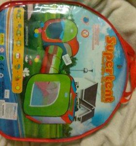 Новая игровая детская палатка с тоннелем