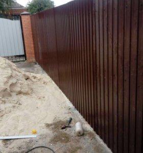 Сварочные работы установка столбов ворот калиток