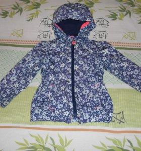 Легкая куртка Vintage для девочки, размер 98-104