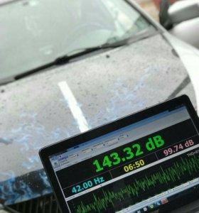 Услуги по замеру звукового давления в автомобиле