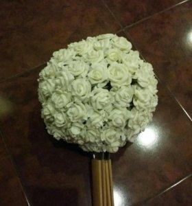 Шар цветочный для декора с креплением. Диаметр 25