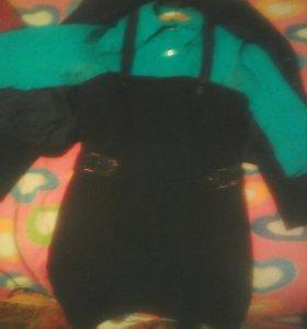 Костюм-сарафан,блузка и пиджак.
