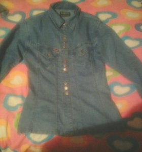 Джинсовая рубажка
