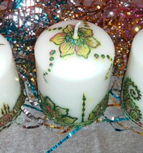 подарок на Новый год (интерьерная свеча)