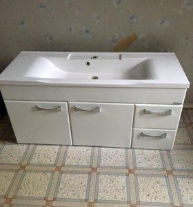 Подвесная раковина с тумбой в ванную комнату