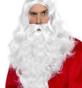 Комплект борода Деда Мороза и парик Деда Мороза