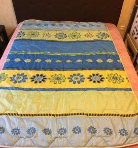 Одеяло 1,5 спальное,теплое