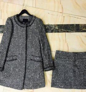 Пальто с юбкой р.44-46(M)