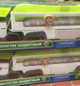 Автовоз щенячий патруль зеленый