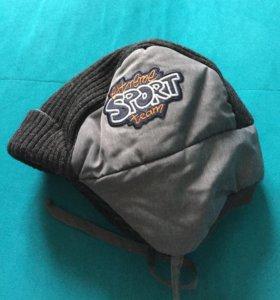 Зимняя шапочка на малыша новая размер 46-48