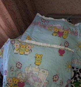 Продам бортики для детской кроватки