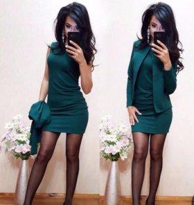 Платье+пиджак ( костюм новый)