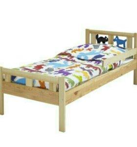 Кровать детская ИКЕА с матрасом б.у.