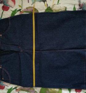 Юбка джинсовая новая р52-54