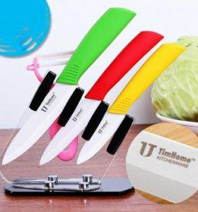 Набор ножей керамических + овощечистка