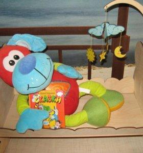 Кроватка-качалка Мишутка, для кукол и игрушек