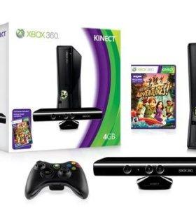 Xbox 360 4gb + жесткий диск xbox250 gb