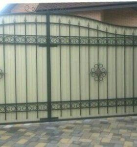 Кованые ворота артикул 83