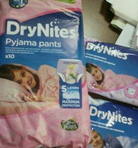 Ночные одноразовые трусики-подгузники DryNites