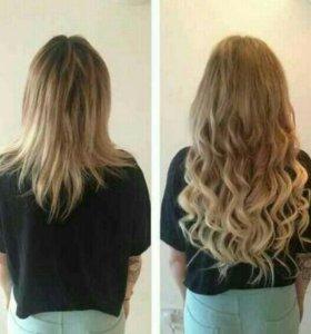 Безопасное наращивание волос/цветных прядей