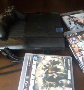 Sony Play Station 3 Slim+GTA5+Battlefield4+PayDay2