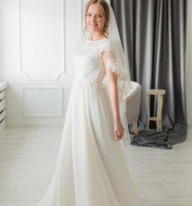 Платье свадебное фата
