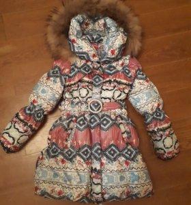 Пуховик-пальто