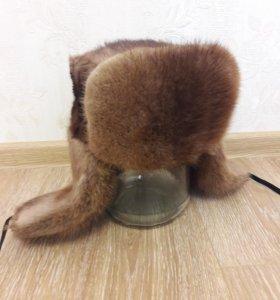 Шапка-ушанка ондатра