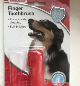 Новая зубная щетка для кота/собаки
