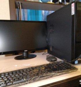Компьютер с монитором в отличном состоянии