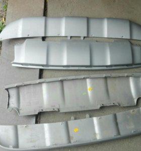 Накладка юбка бампера Volvo XC60 14-17 Вольво