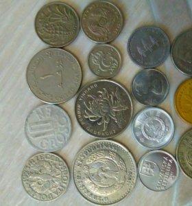 Иностранные монеты - 15 шт