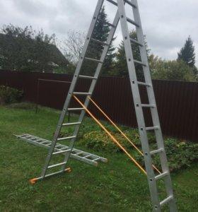 Трехсекционная алюминиевая лестница