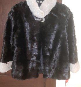 НОВАЯ НОРКОВАЯ шуба (куртка)