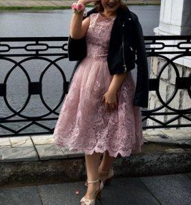 Розовое платье, вечернее платье, красивое платье