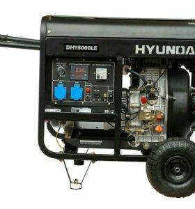 Дизельный генератор Hyundai DHY-8000LE