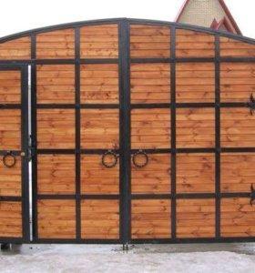 Деревянные ворота на заказ