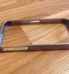 Бампер чехол на iphone 4 металлический
