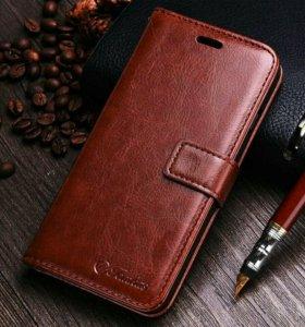 Новый кожанный чехол на iphone 7 и подарки