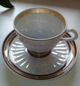 Чашечка с блюдцем кофейная