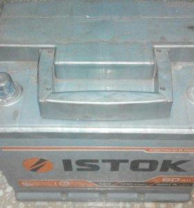 Автомобильный аккумулятор 6СТ-60 б/у +-