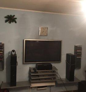 Плазменная панель Panasonic и домашний кинотеатр
