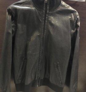 Кожаная куртка DKNY
