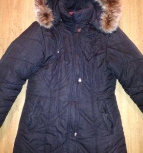 Зимнее синтепоновое пальто размер 48-50
