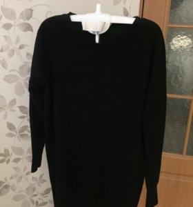 Платье свитер туника Massimo Dutti кашемир